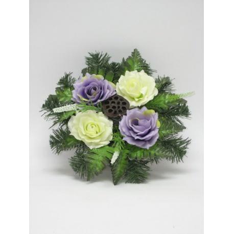 Aranžmán 4124, ruža, doplnky, 30 cm