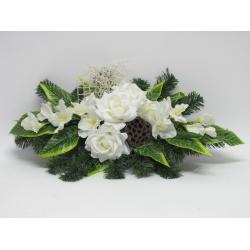 Aranžmán 4157, ruža, gladiola, doplnky, 70 cm