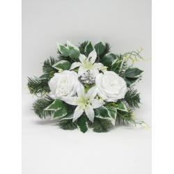 Aranžmán 4128, ľalia, ruža, doplnky, 30 cm