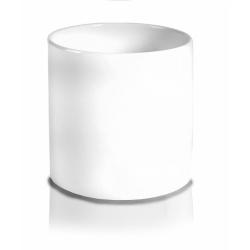 Obal valec, biely, 8 cm