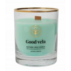 Vonná sviečka v skle, Organic Good vela, 8 x 9,5 cm