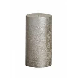 Sviečka Rustic, metalické šampanské, 13 x 6,8 cm