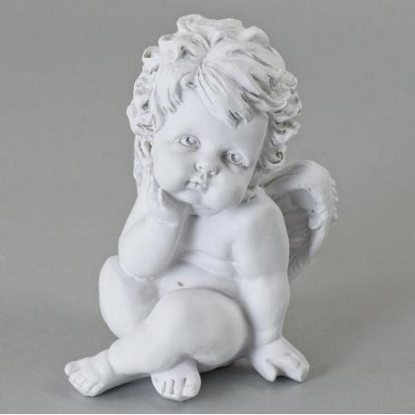 Anjel polyrez. biely, 17 cm