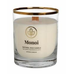 Vonná sviečka v skle, Organic Monoi, 8 x 9,5 cm
