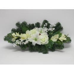Aranžmán 4158, gladiola, ruža a doplnky, 70 cm