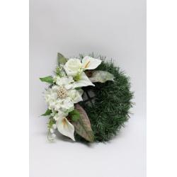 Aranžmán 4228, ruža, hortenzia, kala, 35 cm