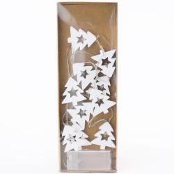 Girlanda drevo, biely stromček, LED, 4,5 x 5 cm, 10 ks