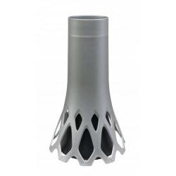 Váza Roseta, záťažová, strieborná, 1,3 L, 34,5 cm