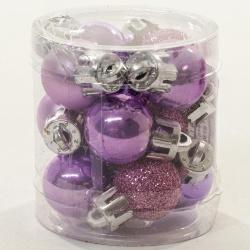 Umelé gule, fialové, 2 cm, 12 ks