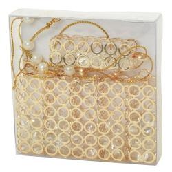 Záves krúžky kovové, zlaté, 5,5 x 1,8 x 1,8 cm, 6 ks