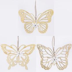 Záves motýl, drevený, 16,5 x 12,5 x 0,7 cm, 1 ks