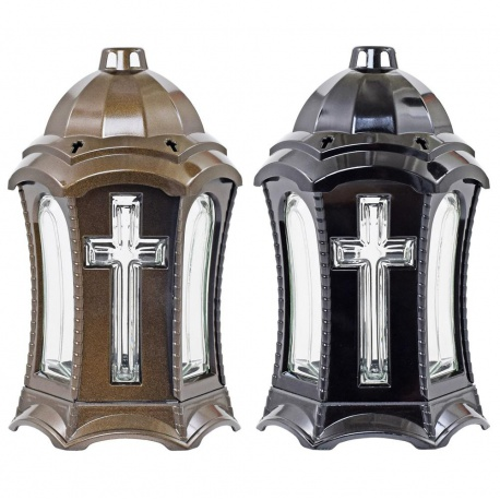Katedrála Lampión, kríž, mix farieb, 27 cm