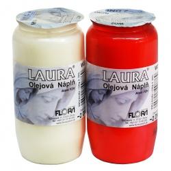Olejová náplň do kahancov, Laura, biela, 120 g