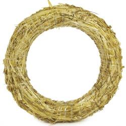 Slamený veniec, kruh, 30 x 5 cm