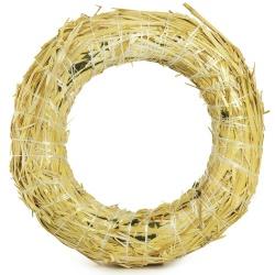 Slamený veniec, kruh, 20 x 4 cm