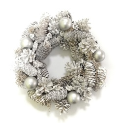 Vianočný veniec prírodný, zdobený, 30 cm