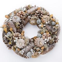 Vianočný veniec, prírodný, 36 cm