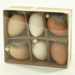 Vajíčka prepeličie, 6 cm, 6 ks