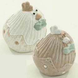 Sliepka, keramika, hnedá, 6 x 4 x 5 cm, 1 ks