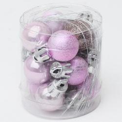 Gule plast, ružové, 2 cm, 12 ks