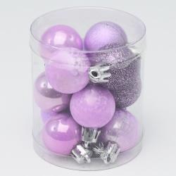 Gule plast, fialová, strieborná, 3 cm, 12 ks