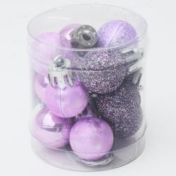 Gule plast, fialové, 2 cm, 12 ks