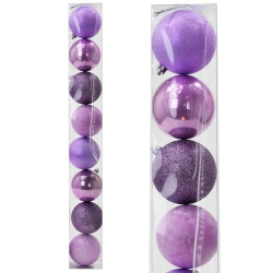 Gule plast, fialové, 8 cm, 8 ks