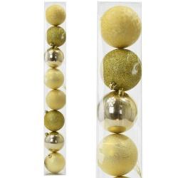 Gule plast, zlaté, 8 cm, 8 ks