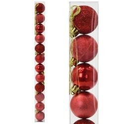 Gule plast, červené, 4 cm, 12 ks