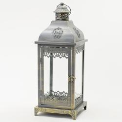 Lampáš kovový, L, 18 x 18 x 50 cm
