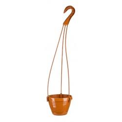Závesný kvetináč Novo, vrub, terakota, 20 cm
