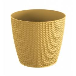 Obal Wheaty, štrikovaný, žltá, 19 cm