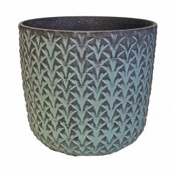 Obal Pineapple, grafitovo-tyrkysová, 25 cm