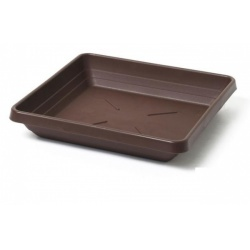 Miska hranatá, Lotos, hnedá, 30 x 30 cm