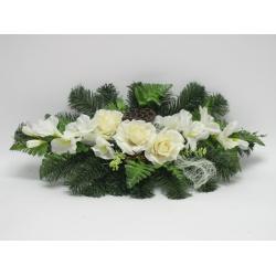 Aranžmán 4144, ruža, gladiola, doplnky, 60 cm