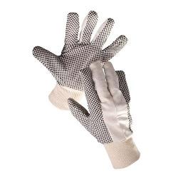"Rukavice OSPREY 10"", bavlnené, PVC terčíky, hobby"