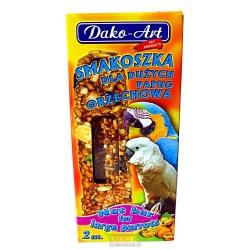 DAKO, orechová tyčinka pre veľké papagáje, 2 ks