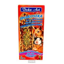 DAKO, malinovo jahodová tyčinka pre hlodavce, 2 ks