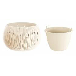 Plastový obal s vkladom, Sandy Bowl, krémová, 18 cm