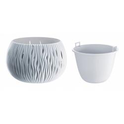 Plastový obal s vkladom, Sandy Bowl, biela, 18 cm