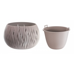 Plastový obal s vkladom, Sandy Bowl, mocca, 24 cm