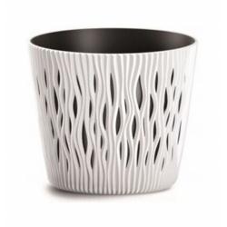 Plastový obal s vkladom, Sandy Round, biela, 22 cm