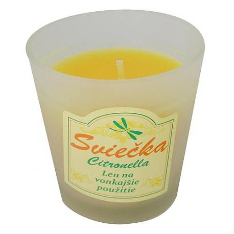 Vonná sviečka v skle, Citronela, 250 g