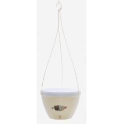 Závesný kvetináč, Vista, samozavlažovací, krémová / biela, 22 cm