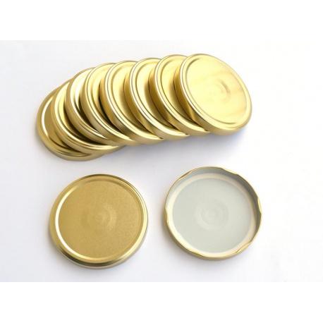 Viečko TO100, zlaté na 4 litre, 10 cm, 10 ks