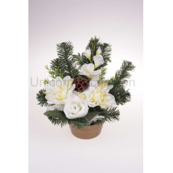 Aranžmán 4194, gladiola, hortenzia, ruža, 37 cm