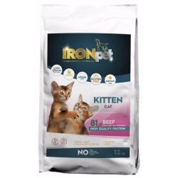 Ironpet Cat, pre malé mačiatka, hovädzie, 1 kg