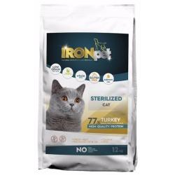 Ironpet Cat, pre kastrované mačky, morčacie, 1 kg