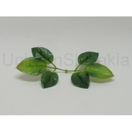 List ruža, zelený, 16 cm