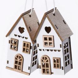 Záves domčeky, 4 x 3 x 7,5 cm, 2 ks